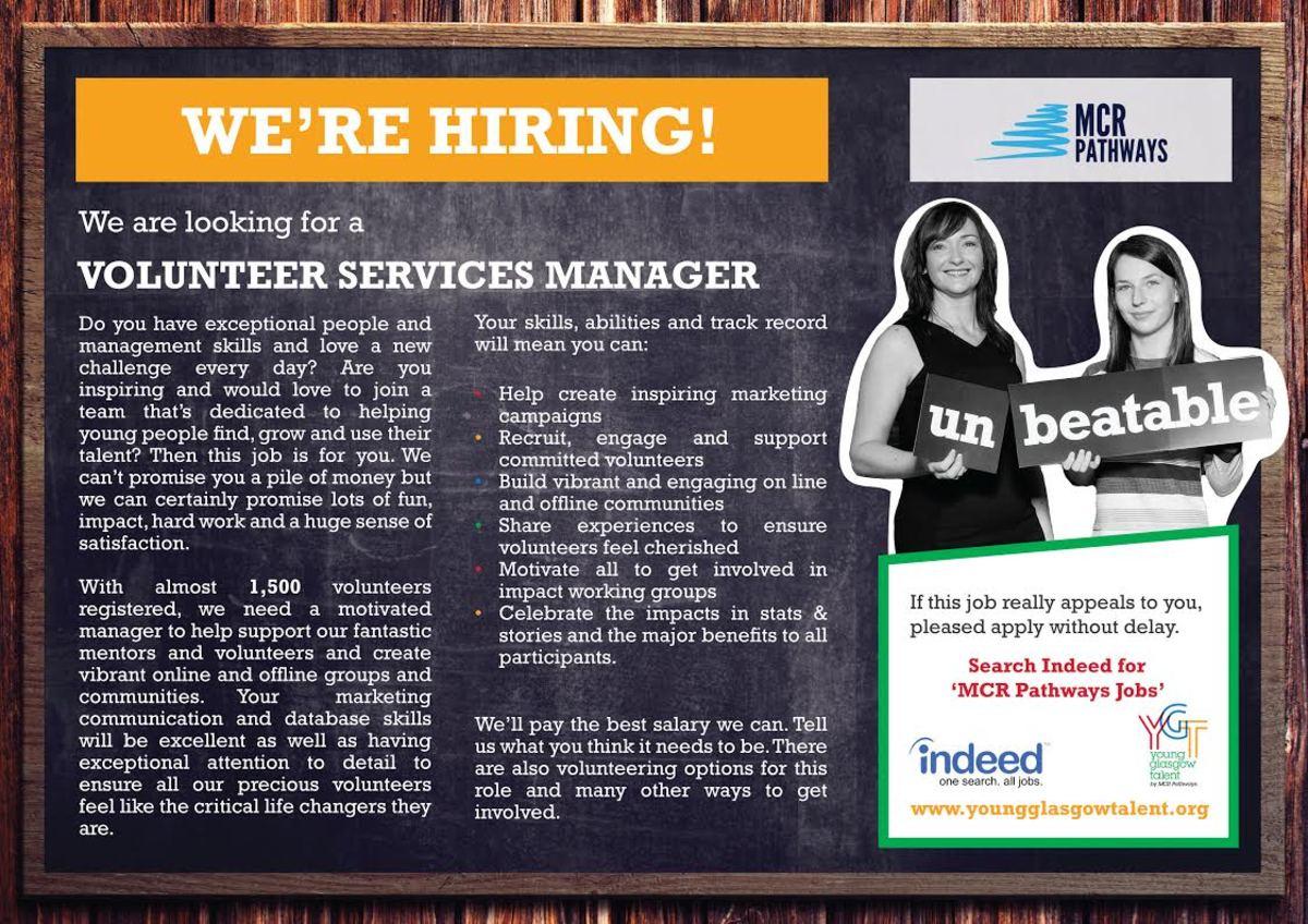 Vacancies: Mentor Services Co-ordinator & Volunteer Services Manager