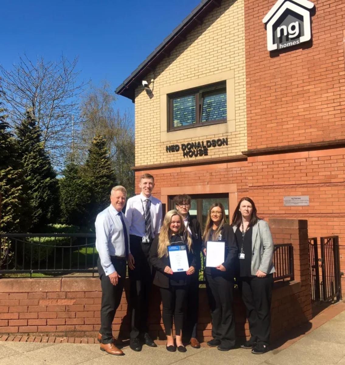 NEWS: ng homes celebrates Investors in Young People Gold Award