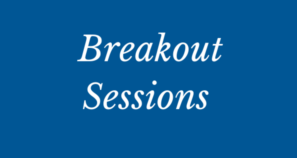 NATIONAL EVENT - Breakout sessions announced!