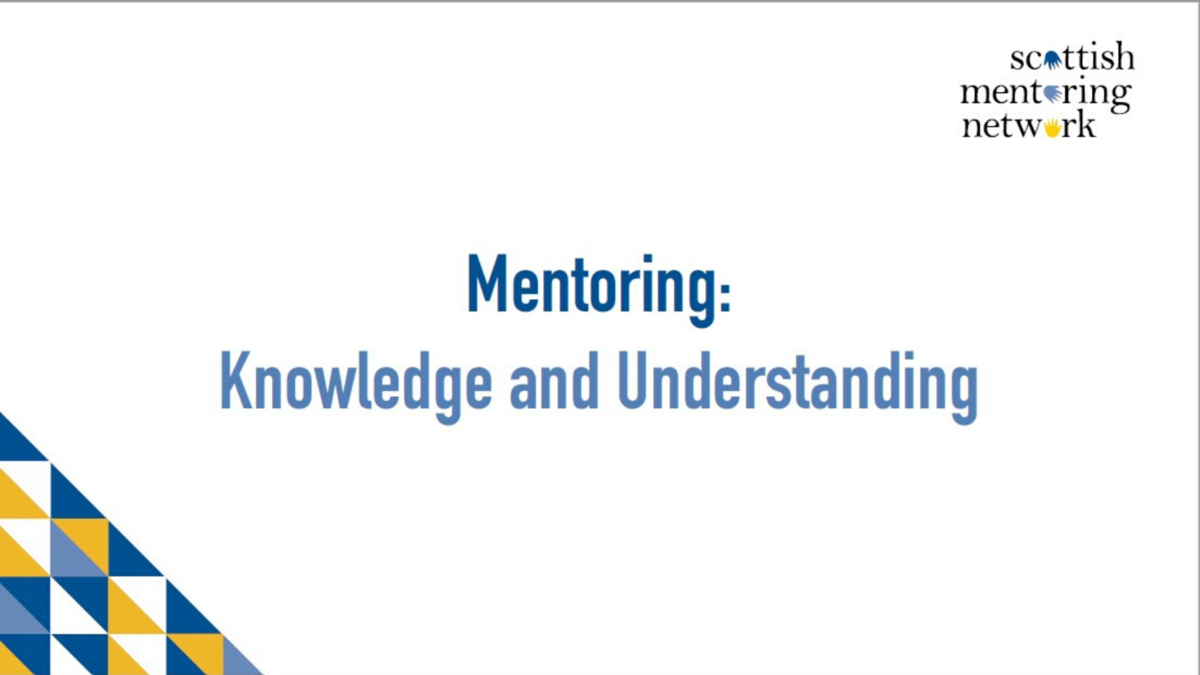 NEWS: Mentor Knowledge & Understanding Training Course now open for bookings!