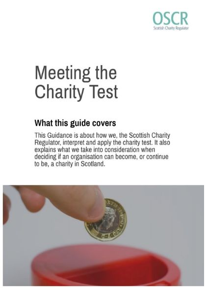 NEWS: OSCR have a new consultation on their 'Meeting the Charity Test guidance' updates